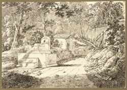 Muslim tomb near the great banyan tree, Hajipur (Bihar). 16 March 1824